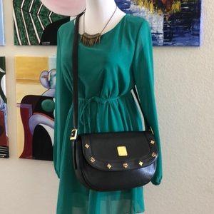 Authentic Vintage MCM Leather Crossbody Bag